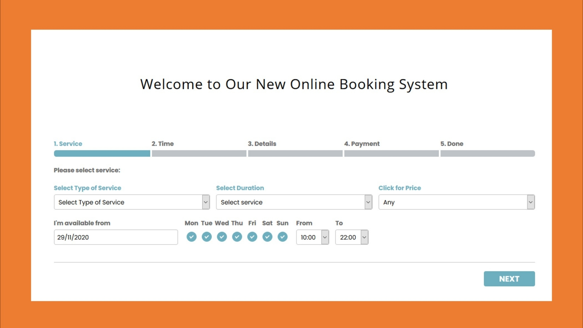 New Online Booking System post thumbnail
